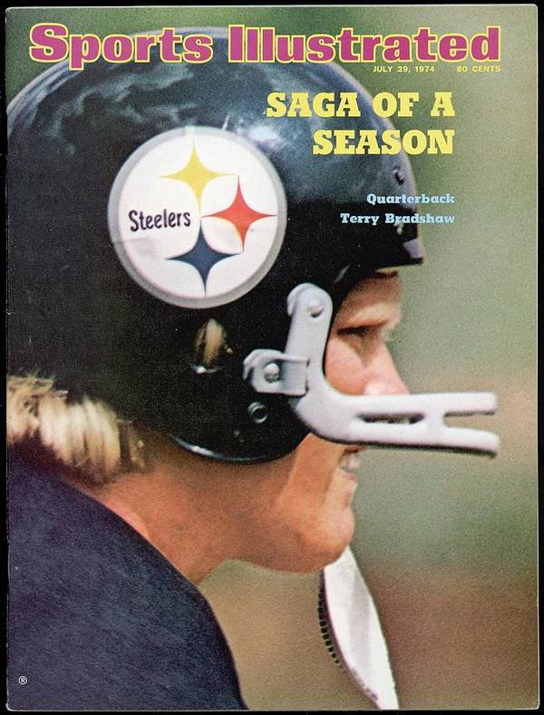 Magazine Cover Art Print featuring the photograph Pittsburgh Steelers Qb Terry Bradshaw Sports Illustrated Cover by Sports Illustrated