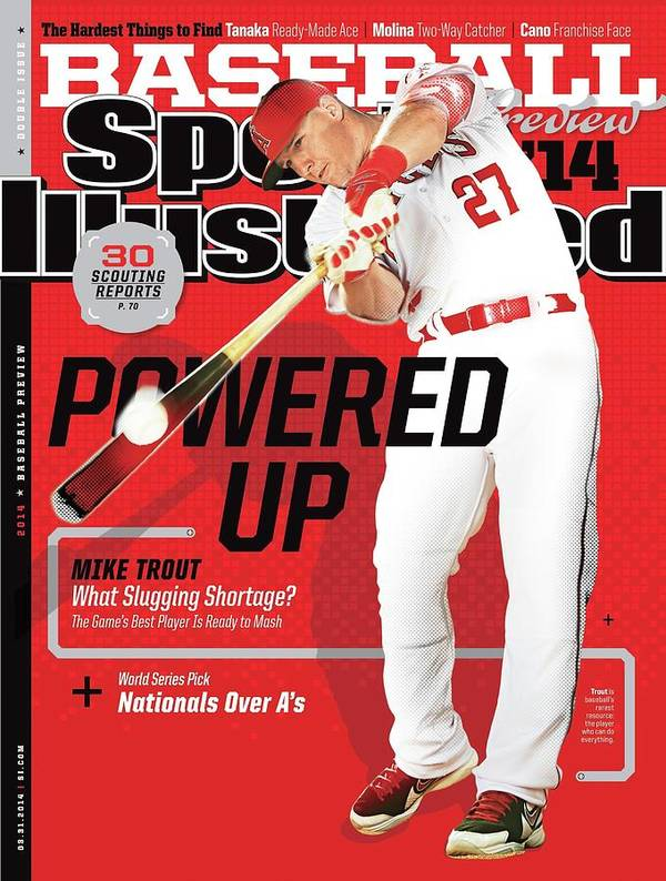 Magazine Cover Art Print featuring the photograph Powered Up 2014 Mlb Baseball Preview Issue Sports Illustrated Cover by Sports Illustrated