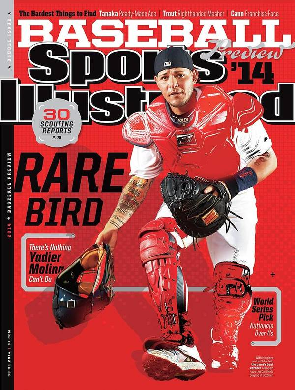 St. Louis Cardinals Art Print featuring the photograph Rare Bird 2014 Mlb Baseball Preview Issue Sports Illustrated Cover by Sports Illustrated