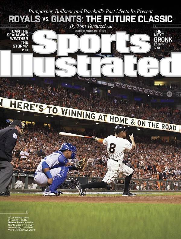 Magazine Cover Art Print featuring the photograph Royals Vs. Giants The Future Classic Sports Illustrated Cover by Sports Illustrated