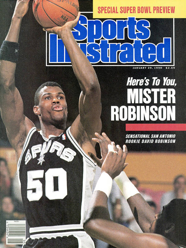 Nba Pro Basketball Art Print featuring the photograph San Antonio Spurs David Robinson... Sports Illustrated Cover by Sports Illustrated