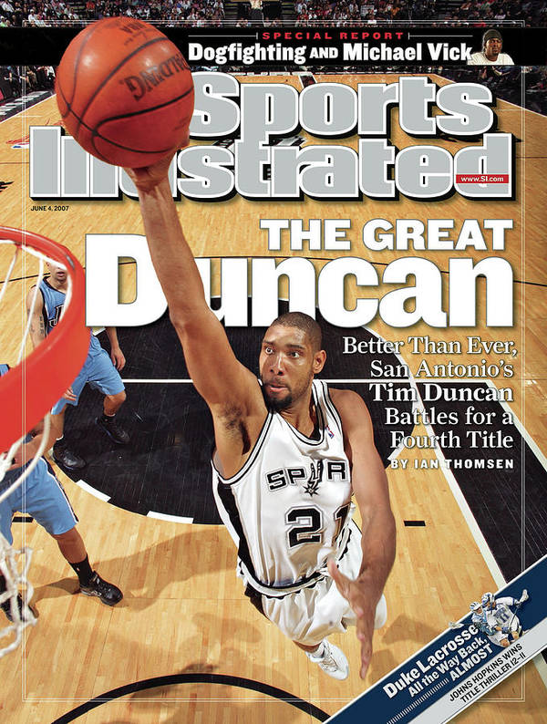 Magazine Cover Art Print featuring the photograph San Antonio Spurs Tim Duncan, 2007 Nba Western Conference Sports Illustrated Cover by Sports Illustrated