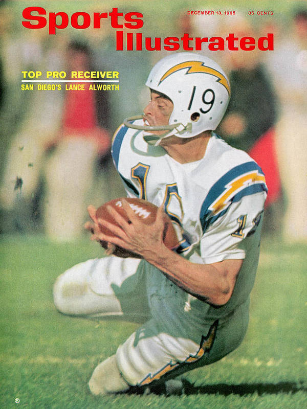 New England Patriots Art Print featuring the photograph San Diego Chargers Lance Alworth... Sports Illustrated Cover by Sports Illustrated