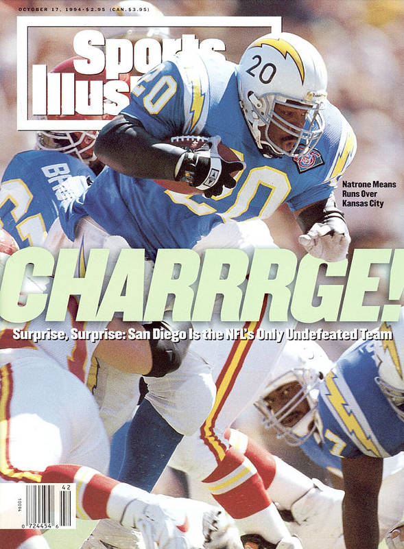 California Art Print featuring the photograph San Diego Chargers Natrone Means... Sports Illustrated Cover by Sports Illustrated