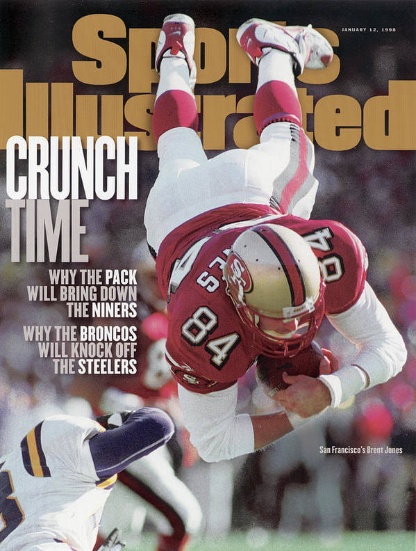 Candlestick Park Art Print featuring the photograph San Francisco 49ers Brent Jones, 1998 Nfc Divisional Sports Illustrated Cover by Sports Illustrated