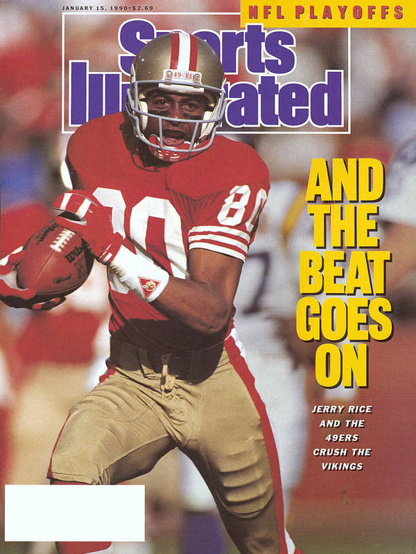 Magazine Cover Art Print featuring the photograph San Francisco 49ers Jerry Rice, 1990 Nfc Divisional Playoffs Sports Illustrated Cover by Sports Illustrated