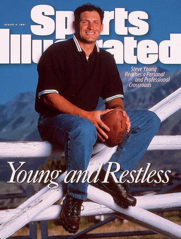 Magazine Cover Art Print featuring the photograph San Francisco 49ers Qb Steve Young Sports Illustrated Cover by Sports Illustrated