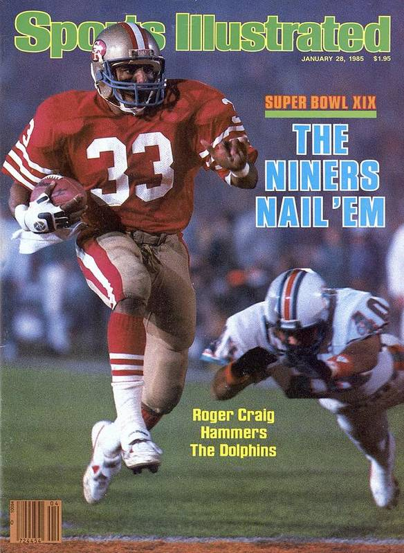 1980-1989 Art Print featuring the photograph San Francisco 49ers Roger Craig, Super Bowl Xix Sports Illustrated Cover by Sports Illustrated