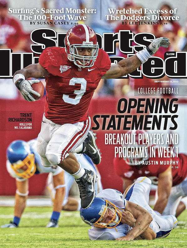 Sports Illustrated Art Print featuring the photograph San Jose State V Alabama Sports Illustrated Cover by Sports Illustrated