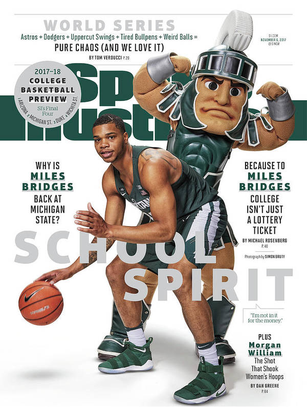 Michigan State University Art Print featuring the photograph School Spirit 2017-18 College Basketball Preview Issue Sports Illustrated Cover by Sports Illustrated