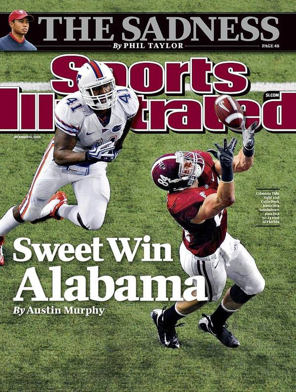 Magazine Cover Art Print featuring the photograph Sec Championship - Alabama V Florida Sports Illustrated Cover by Sports Illustrated