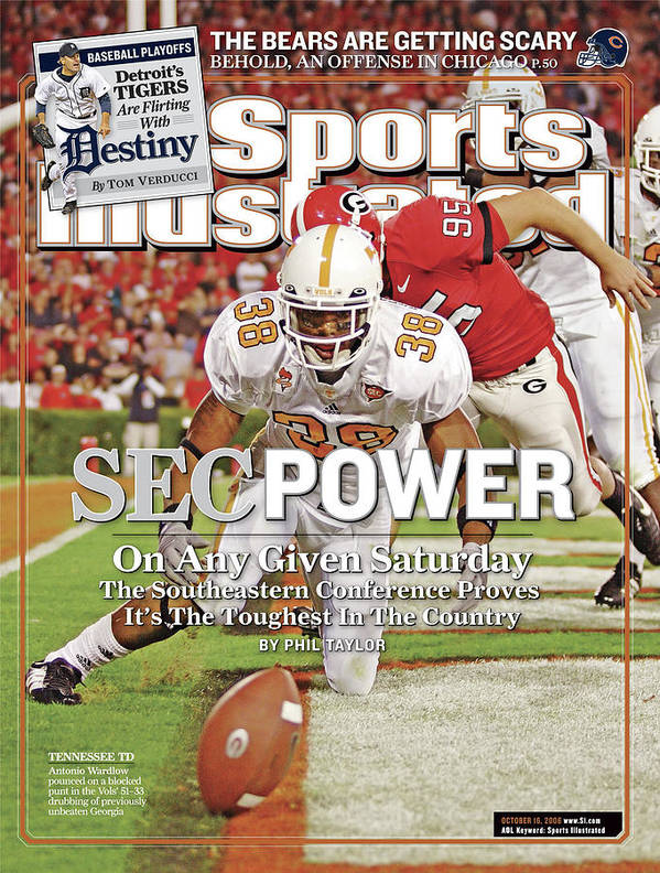 Magazine Cover Art Print featuring the photograph Sec Power On Any Given Saturday The Southeastern Conference Sports Illustrated Cover by Sports Illustrated