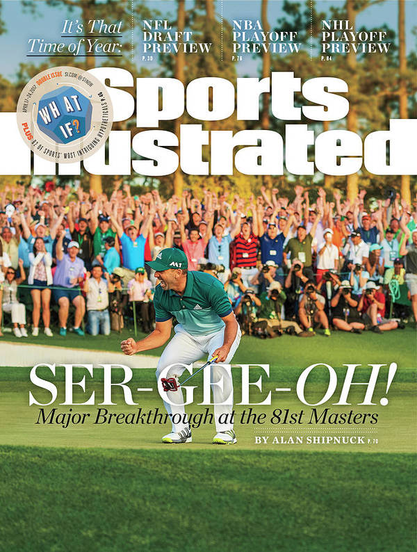 Magazine Cover Art Print featuring the photograph Ser-gee-oh Major Breakthrough At The 81st Masters Sports Illustrated Cover by Sports Illustrated