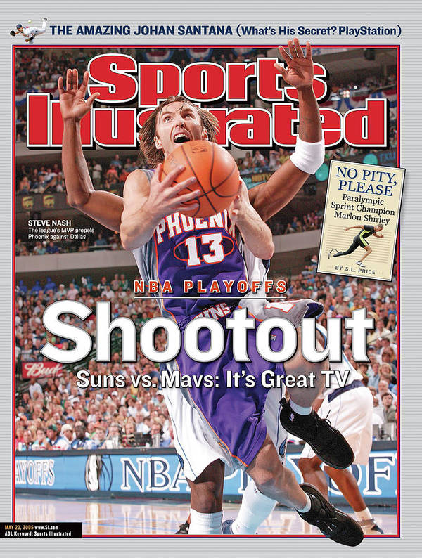 Jason Terry Art Print featuring the photograph Shootout Nba Playoffs, Suns Vs. Mavs Its Great Tv Sports Illustrated Cover by Sports Illustrated