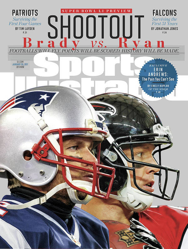 Playoffs Art Print featuring the photograph Shootout Super Bowl Li Preview Sports Illustrated Cover by Sports Illustrated