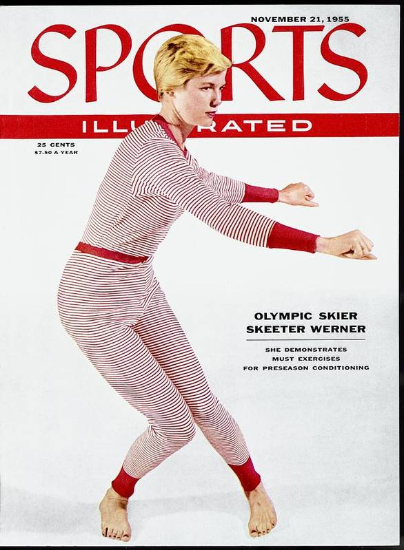 Magazine Cover Art Print featuring the photograph Skiing Exercises By Skeeter Werner Sports Illustrated Cover by Sports Illustrated