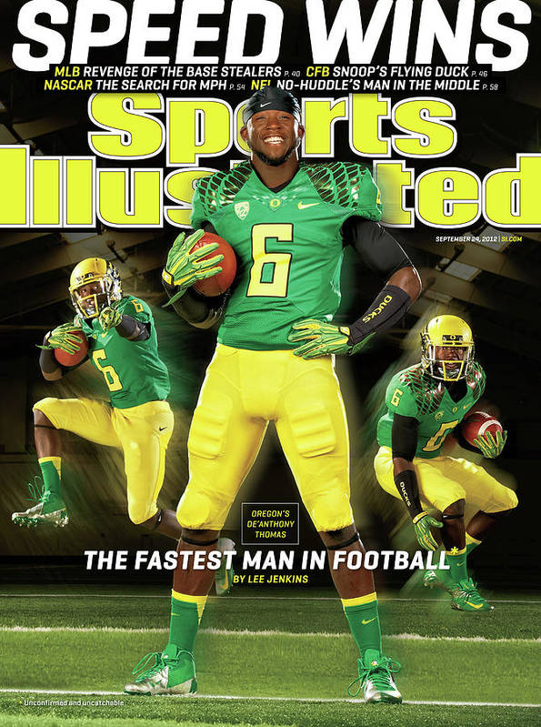 Magazine Cover Art Print featuring the photograph Speed Wins Oregons Deanthony Thomas, The Fastest Man In Sports Illustrated Cover by Sports Illustrated