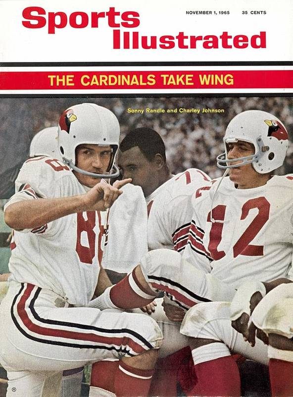 St. Louis Cardinals Art Print featuring the photograph St. Louis Cardinals Sonny Randle And Qb Charley Johnson Sports Illustrated Cover by Sports Illustrated