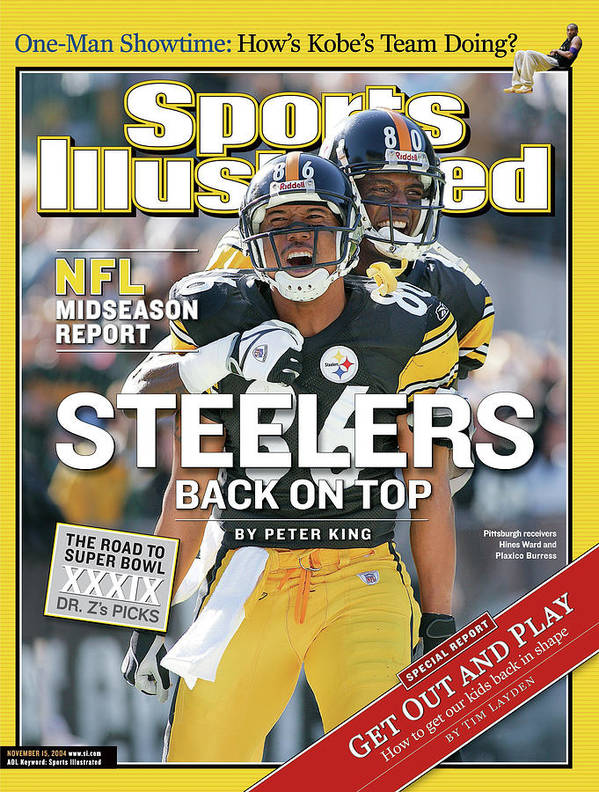 Magazine Cover Art Print featuring the photograph Steelers Back On Top Nfl Midseason Report Sports Illustrated Cover by Sports Illustrated