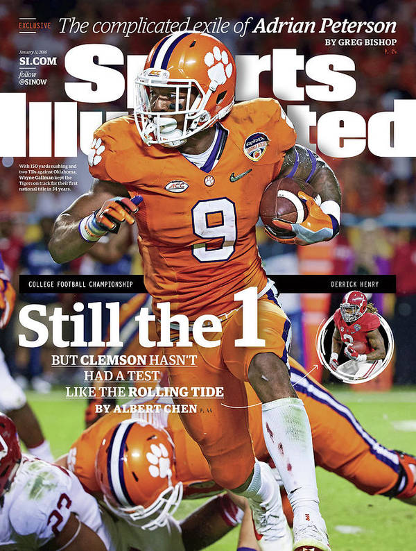 Miami Gardens Art Print featuring the photograph Still The 1, But Clemson Hasnt Had A Test Like The Rolling Sports Illustrated Cover by Sports Illustrated