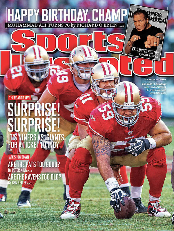 Candlestick Park Art Print featuring the photograph Suprise! Suprise! It's Niners Vs. Giants For A Ticket To Indy by Sports Illustrated Cover