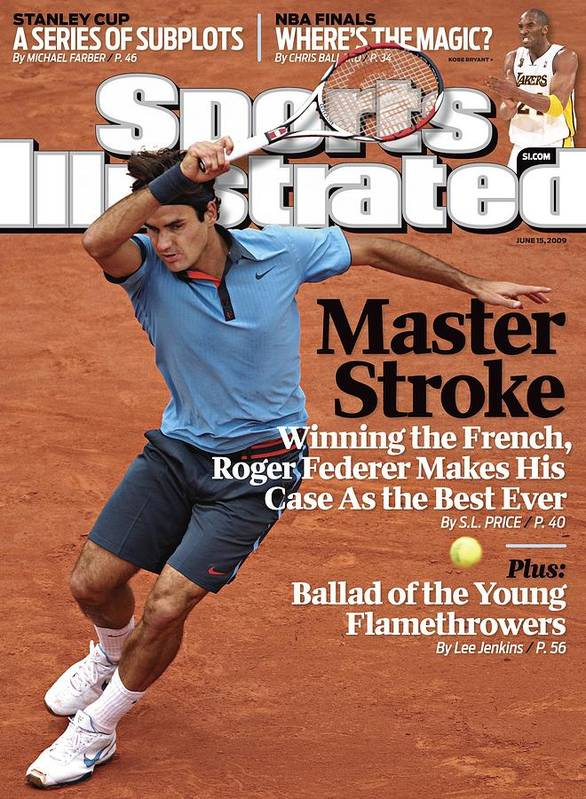 Tennis Art Print featuring the photograph Switzerland Roger Federer, 2009 French Open Sports Illustrated Cover by Sports Illustrated