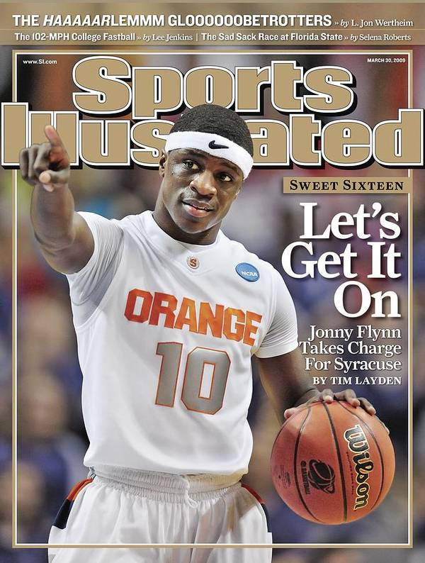 Playoffs Art Print featuring the photograph Syracuse University Jonny Flynn, 2009 Ncaa South Regional Sports Illustrated Cover by Sports Illustrated