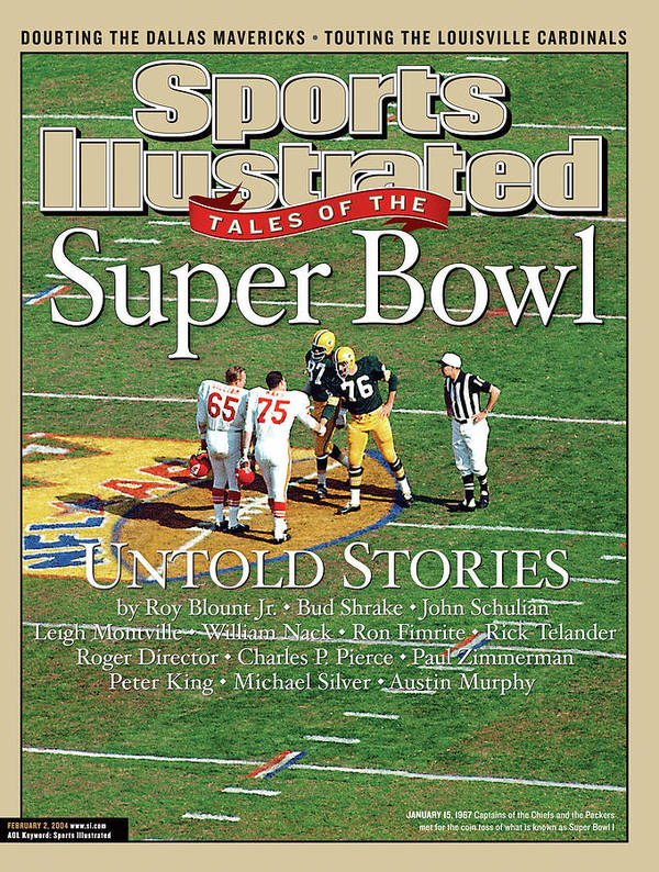 Magazine Cover Art Print featuring the photograph Tales Of The Super Bowl Untold Stories Sports Illustrated Cover by Sports Illustrated