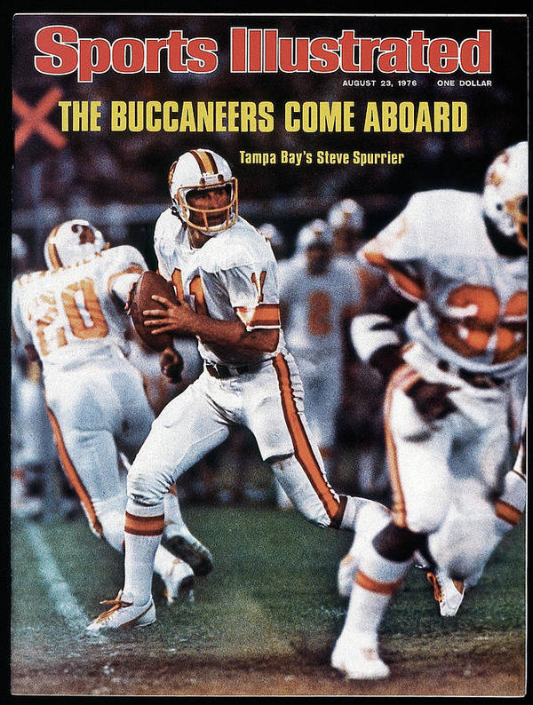 Magazine Cover Art Print featuring the photograph Tampa Bay Buccaneers Qb Steve Spurrier... Sports Illustrated Cover by Sports Illustrated