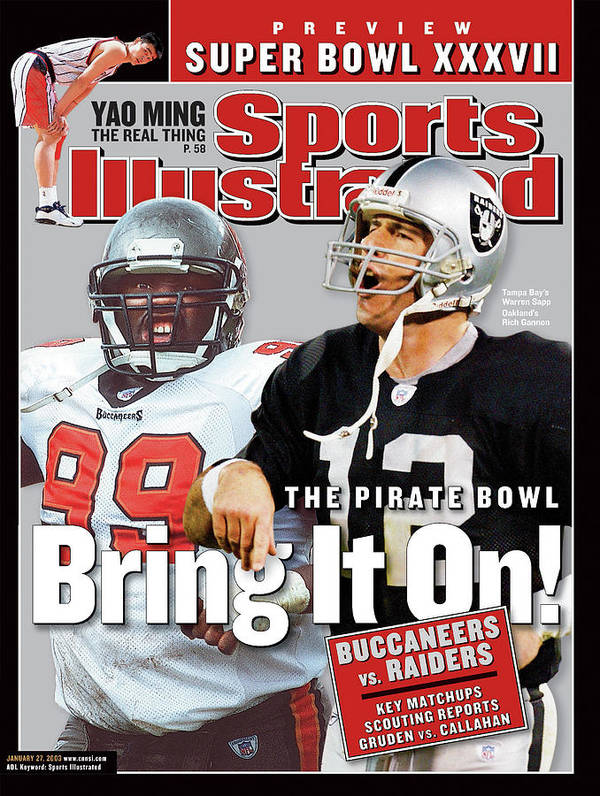 Magazine Cover Art Print featuring the photograph Tampa Bay Buccaneers Vs Oakland Raiders, Super Bowl Xxxvii Sports Illustrated Cover by Sports Illustrated