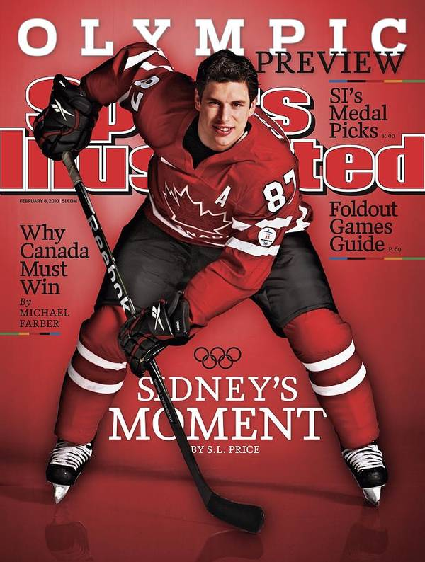 The Olympic Games Art Print featuring the photograph Team Canada Sidney Crosby, 2010 Vancouver Olympic Games Sports Illustrated Cover by Sports Illustrated