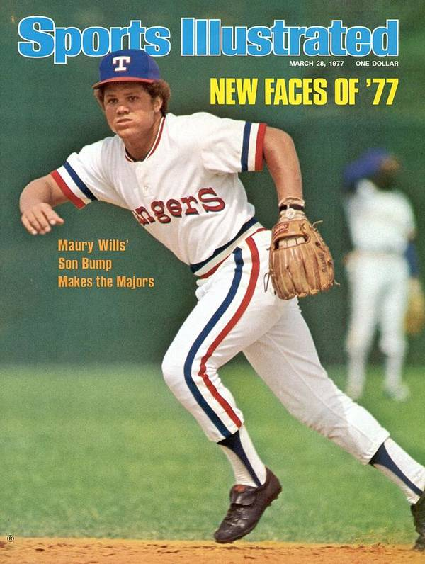 Magazine Cover Art Print featuring the photograph Texas Rangers Bump Wills Sports Illustrated Cover by Sports Illustrated