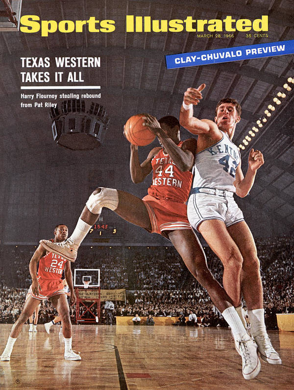Magazine Cover Art Print featuring the photograph Texas Western University Takes It All Sports Illustrated Cover by Sports Illustrated