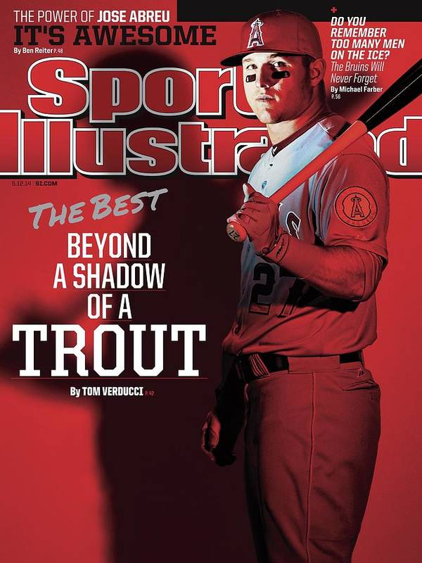 Magazine Cover Art Print featuring the photograph The Best Beyond A Shadow Of A Trout Sports Illustrated Cover by Sports Illustrated