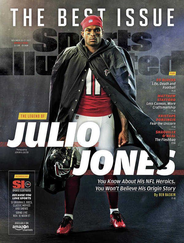 Magazine Cover Art Print featuring the photograph The Best Issue The Legend Of Julio Jones Sports Illustrated Cover by Sports Illustrated