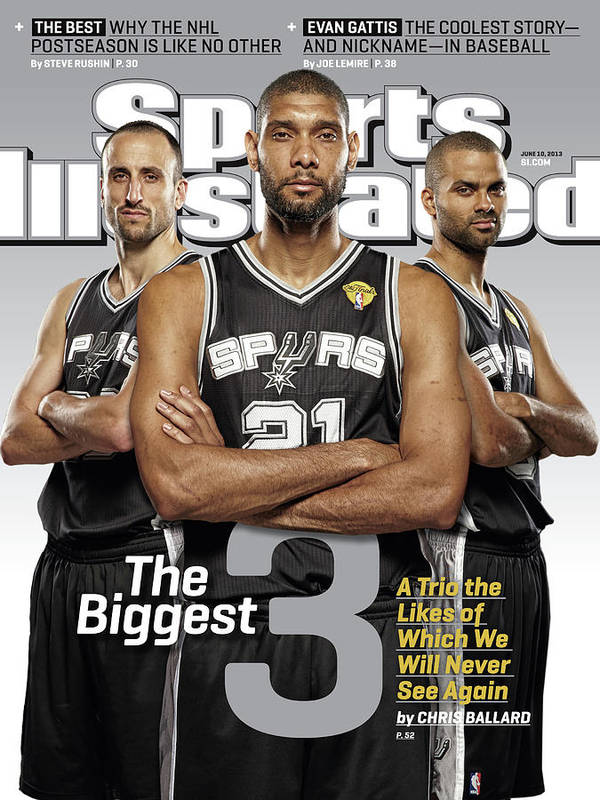 Magazine Cover Art Print featuring the photograph The Biggest 3 Sports Illustrated Cover by Sports Illustrated