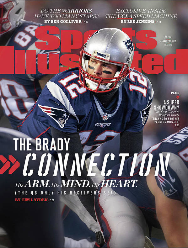 Magazine Cover Art Print featuring the photograph The Brady Connection His Arm. His Mind. His Heart. Sports Illustrated Cover by Sports Illustrated