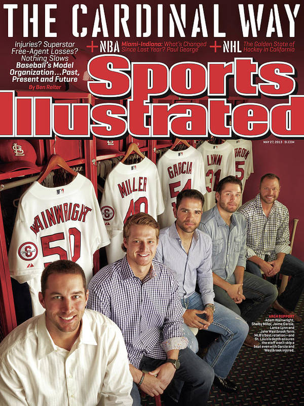 St. Louis Cardinals Art Print featuring the photograph The Cardinal Way Baseballs Model Organization...past Sports Illustrated Cover by Sports Illustrated
