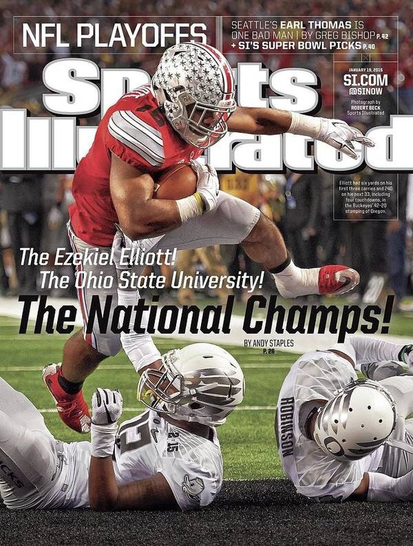 Magazine Cover Art Print featuring the photograph The Ezekiel Elliott The Ohio State University The National Sports Illustrated Cover by Sports Illustrated