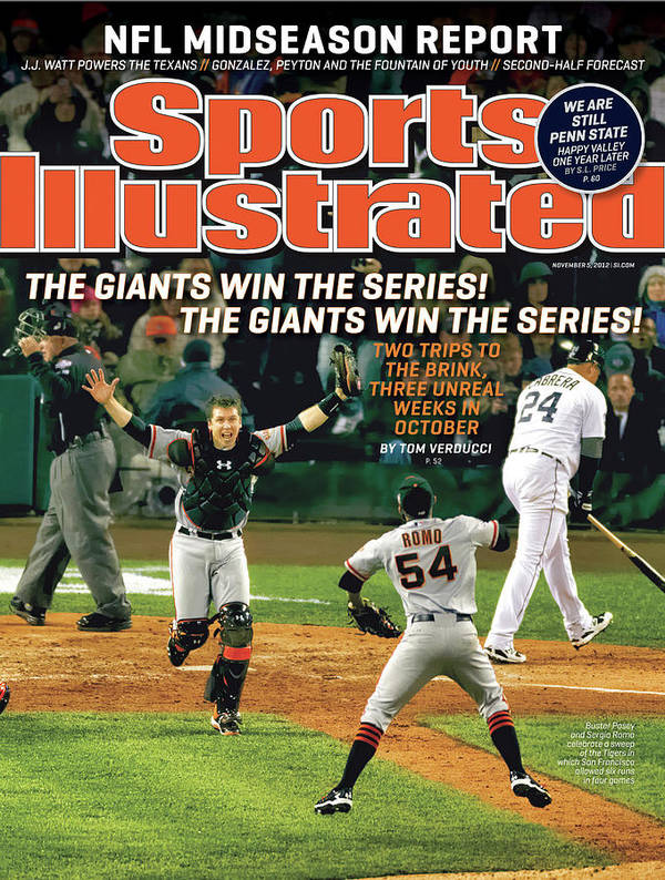 Magazine Cover Art Print featuring the photograph The Giants Win The Series The Giants Win The Series Sports Illustrated Cover by Sports Illustrated