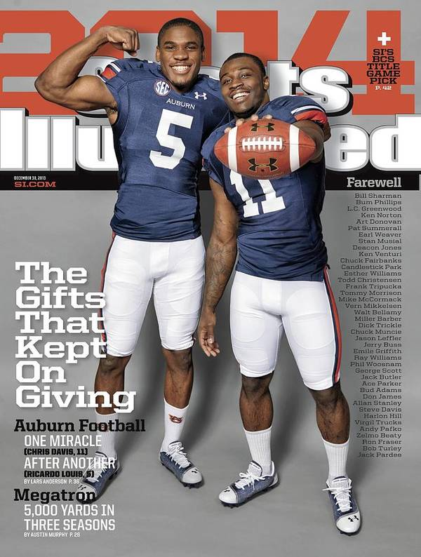 Magazine Cover Art Print featuring the photograph The Gifts That Kept On Giving Auburn Football Sports Illustrated Cover by Sports Illustrated