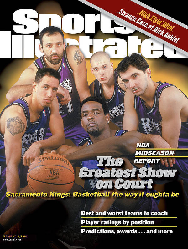 Magazine Cover Art Print featuring the photograph The Greatest Show On Court Sacramento Kings Sports Illustrated Cover by Sports Illustrated