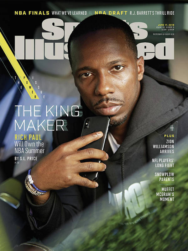 Magazine Cover Art Print featuring the photograph The King Maker Rich Paul Will Own The Nba Summer Sports Illustrated Cover by Sports Illustrated