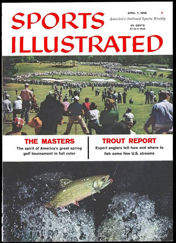 Magazine Cover Art Print featuring the photograph The Masters And Trout Report Sports Illustrated Cover by Sports Illustrated