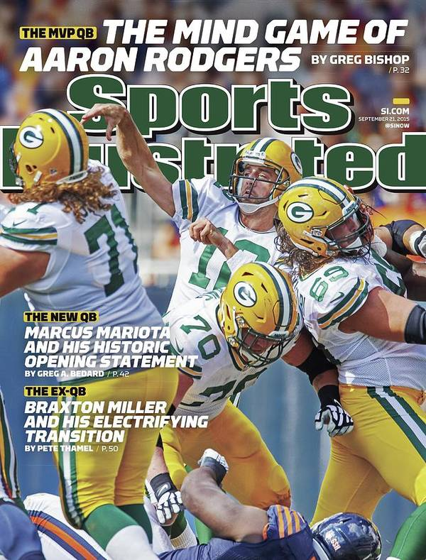 Magazine Cover Art Print featuring the photograph The Mvp Qb The Mind Game Of Aaron Rodgers Sports Illustrated Cover by Sports Illustrated