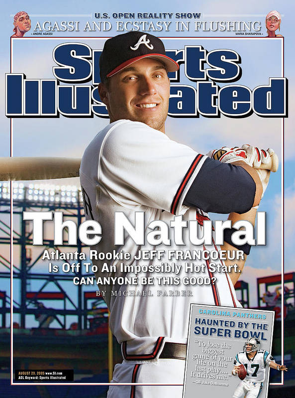 Atlanta Art Print featuring the photograph The Natural Atlanta Rookie Jeff Francoeur Is Off To An Sports Illustrated Cover by Sports Illustrated