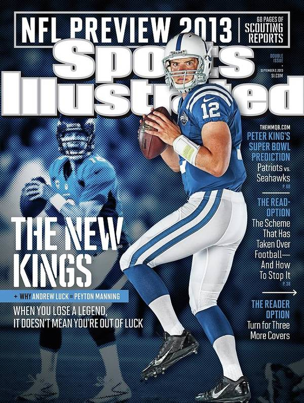 Magazine Cover Art Print featuring the photograph The New Kings 2013 Nfl Football Preview Issue Sports Illustrated Cover by Sports Illustrated