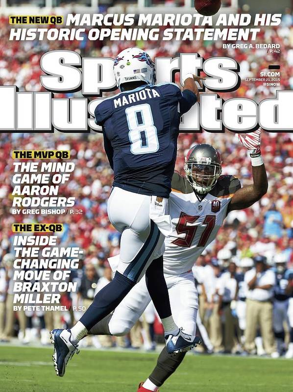 Magazine Cover Art Print featuring the photograph The New Qb Marcus Mariota And His Historic Opening Statement Sports Illustrated Cover by Sports Illustrated