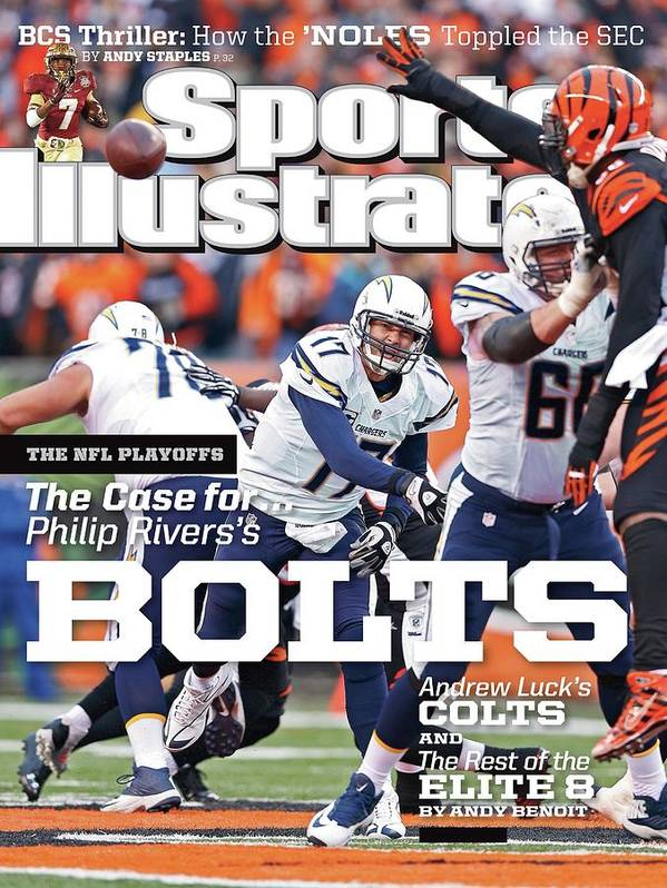 Magazine Cover Art Print featuring the photograph The Nfl Playoffs The Case For . . . Philip Rivers Bolts Sports Illustrated Cover by Sports Illustrated