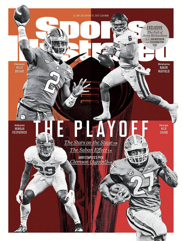 Magazine Cover Art Print featuring the photograph The Playoff 2017-18 College Football Playoff Preview Issue Sports Illustrated Cover by Sports Illustrated